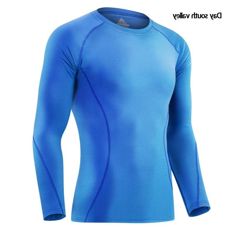 2019 rash guard kit <font><b>Men</b></font> Long T-Shirt trousers <font><b>Clothing</b></font> thermal underwear <font><b>S</b></font>-XXXL