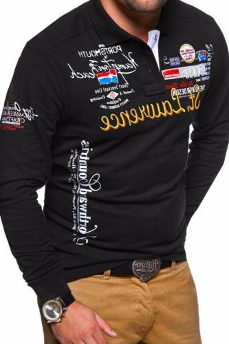 2019Autumn Clothes Men'Fashion Cultivating Polo