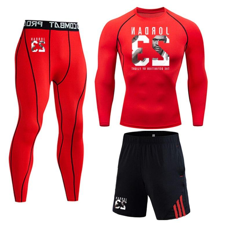 23 Jordan Sportswear piece <font><b>Men's</b></font> Suit Compressed <font><b>clothing</b></font> Gym base layer