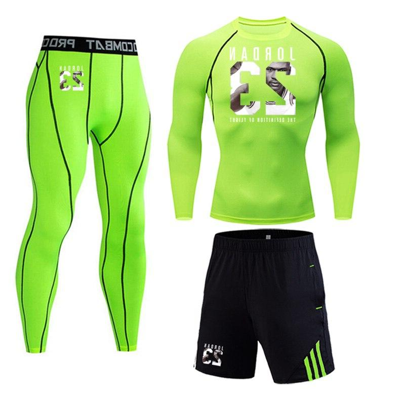 23 Jordan Three piece Suit Compressed Gym jogging base layer