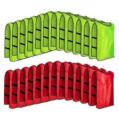 24x pack lot scrimmage training vest adult