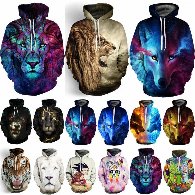 3D Graphic Hoodies Jacket