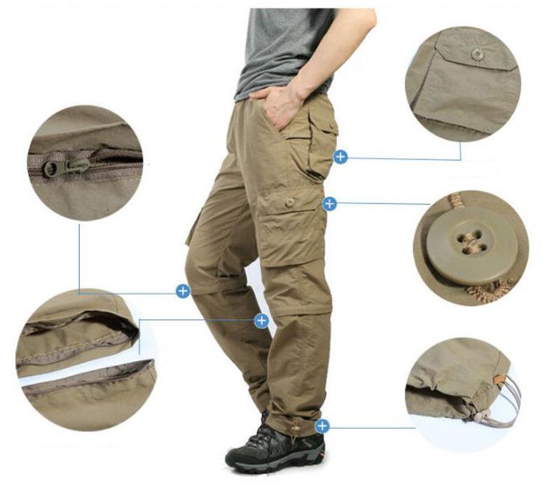 TACVASEN Zip Off Pants Dri-FIT Summer Pants