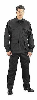 Rothco 6210 Men's Black SWAT Cloth BDU Shirt