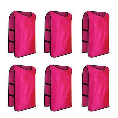 6x Lot Scrimmage Vest Soccer Bib Jersey Pack