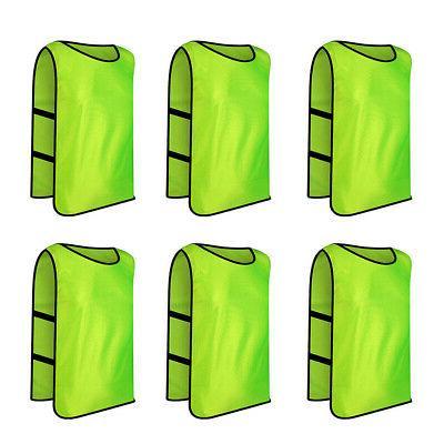 6x lot adult scrimmage training vest w