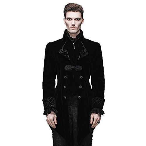 Steelmaster Steampunk Men's Swallow Tail Coat Gothic Winter