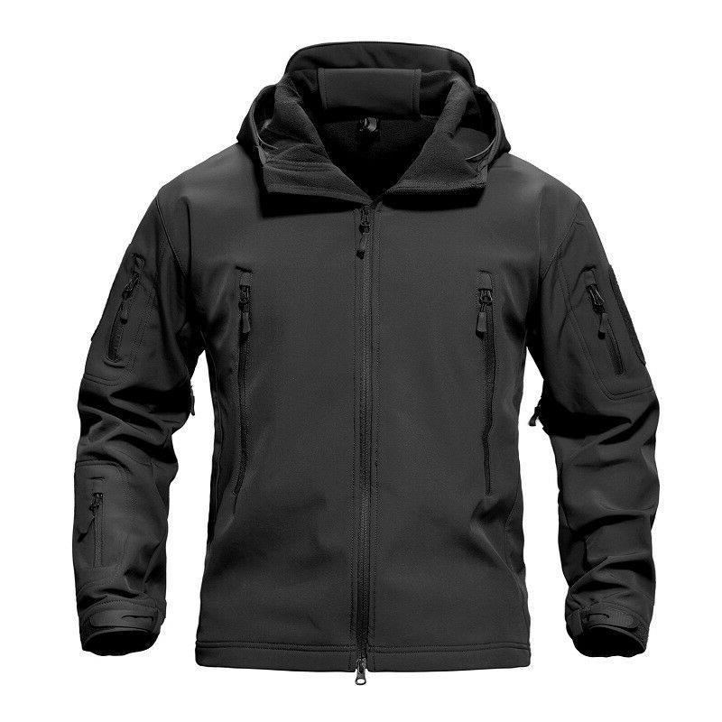 TACVASEN Waterproof Shell Men Jacket Coat Army Outdoor