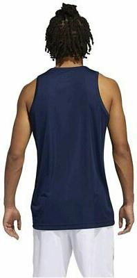 adidas Heathered Tank Top, Collegiate Size TVK1