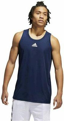 adidas Men's Heathered Tank Top, Collegiate Navy, Size  TVK1