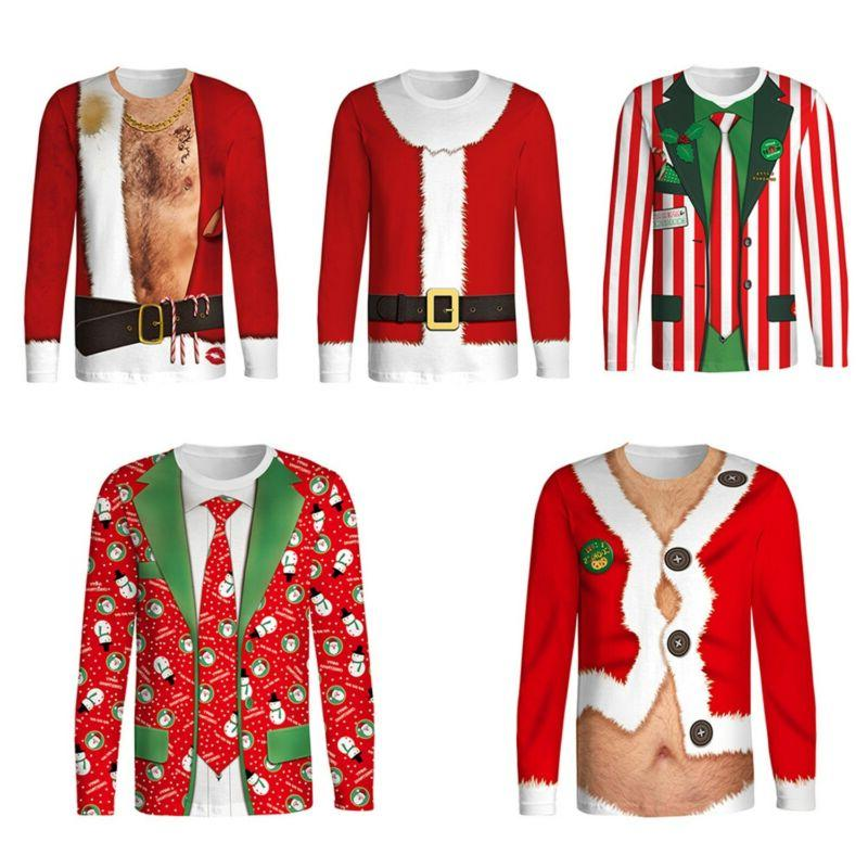 adults mens novelty 3d christmas xmas t