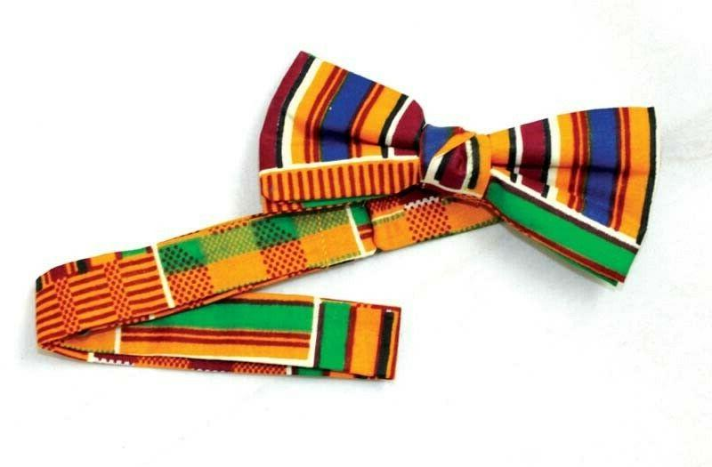 african clothing men kente bow tie style