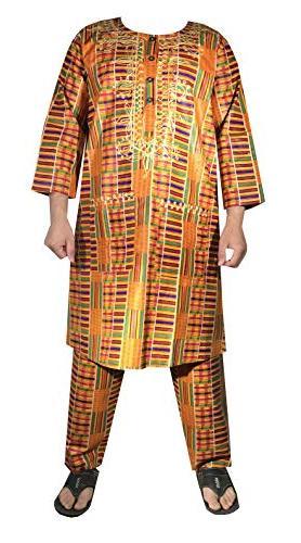 African Kent Dashiki Wedding Suit with