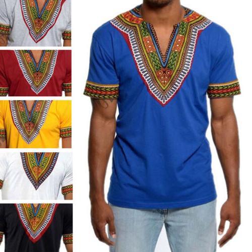 African Men Dashiki Print Top Clothing