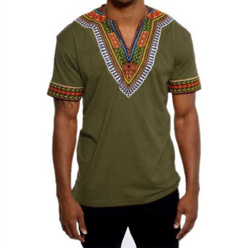 African Tribal Dashiki Print Succinct Top Blouse Clothing