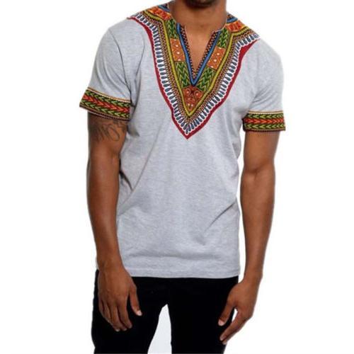 African Tribal Shirt Dashiki Print Top Blouse