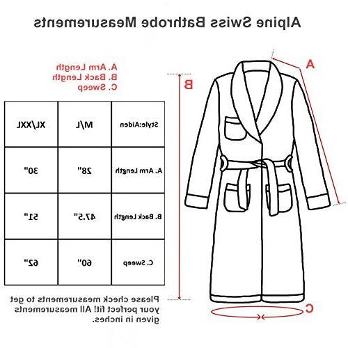 alpine Cotton Shawl Spa Robe BLU ML