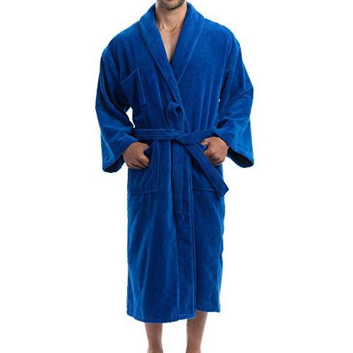 alpine Aiden Cotton Cloth Bathrobe Shawl Collar Robe