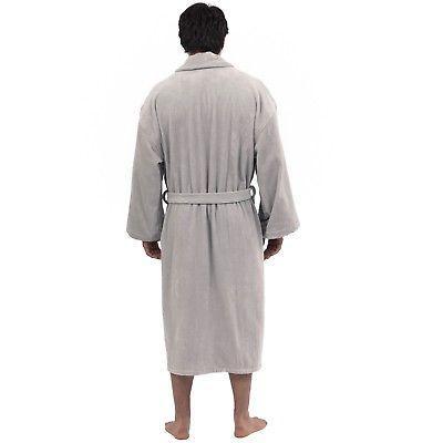 Alpine Aiden Mens Cotton Shawl Velour Spa Robe
