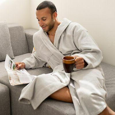 aiden mens cotton terry cloth bathrobe shawl