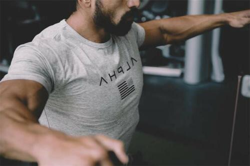 ALPHA Gym Muscle Fitness Tee Workout Clothes