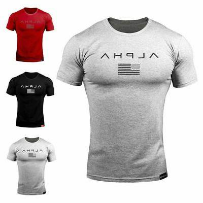 ALPHA Gym Muscle Tee Athletic Clothes