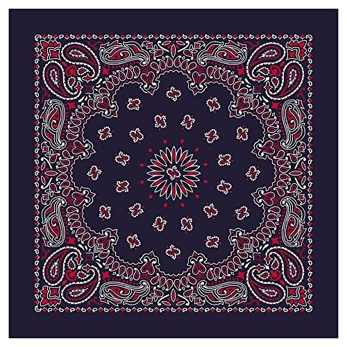 american made paisley blue red bandanas dozen