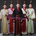 Ancient Men Scholar Swordsman Clothing Hanfu Visual and Perf