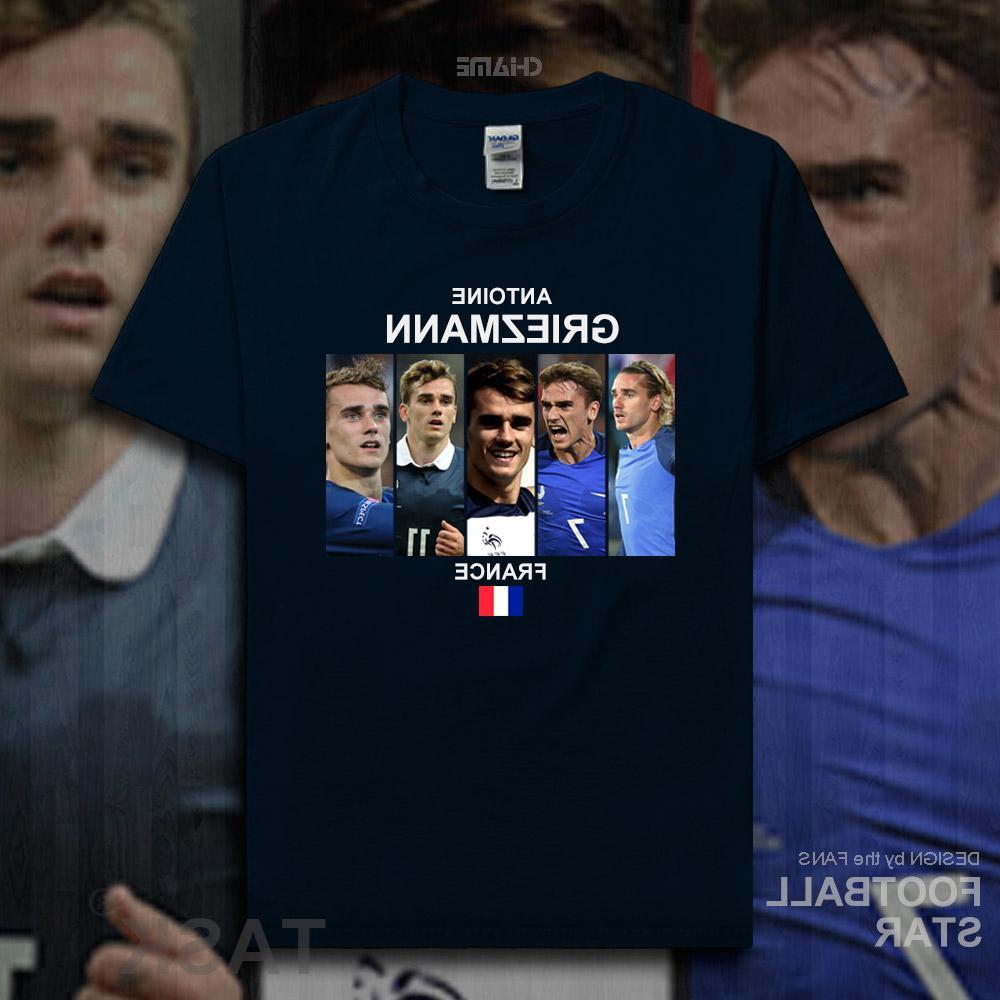 Antoine Griezmann t 2018 jerseys French <font><b>footballer</b></font> cotton t-shirt summer 20