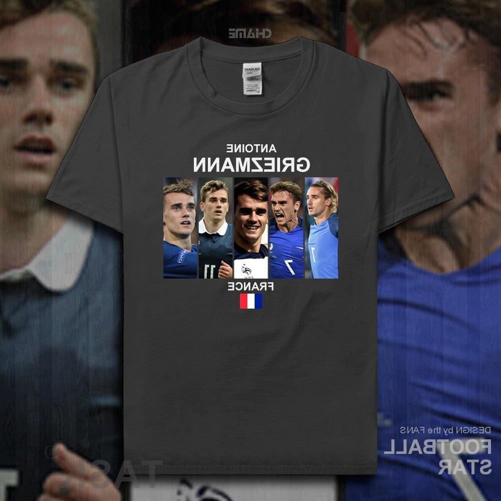 Antoine Griezmann 2018 <font><b>footballer</b></font> 100% cotton t-shirt summer tees