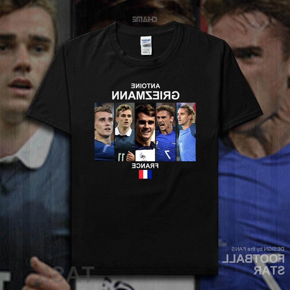 Antoine 2018 jerseys French <font><b>footballer</b></font> star cotton summer tees