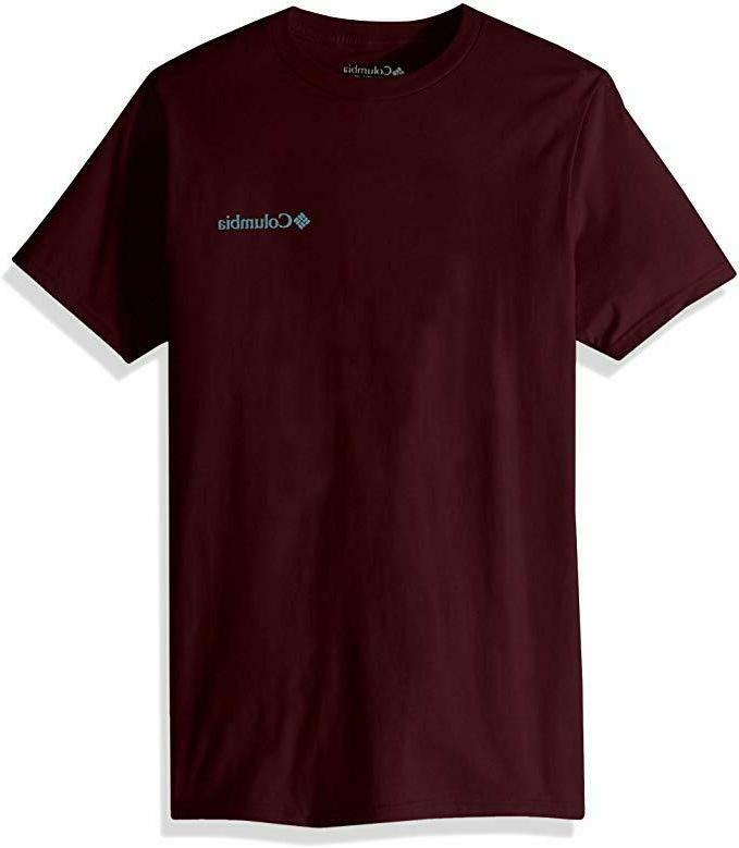 Columbia Apparel Men's Graphic T-Shirt, Rich Wine/Sierra, Me