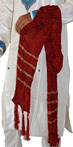 Appparelsonline Men Traditional Dupatta Shawl Scarf Kurta Sh
