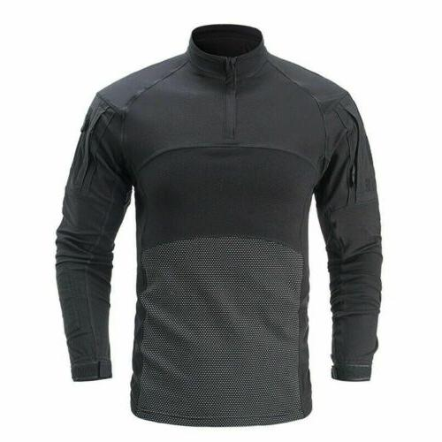 Army Tactical Mens T-Shirt Casual Pullover Top
