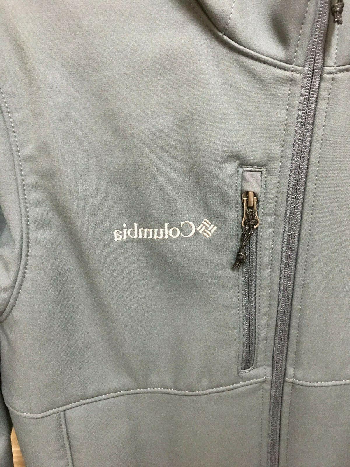 Columbia Ascender Hooded Softshell Jacket Men's Small Gray