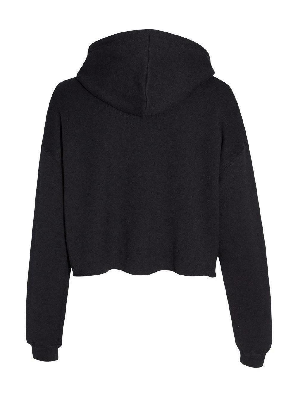 BAD Cropped Fleece Black design apparel INKDEED