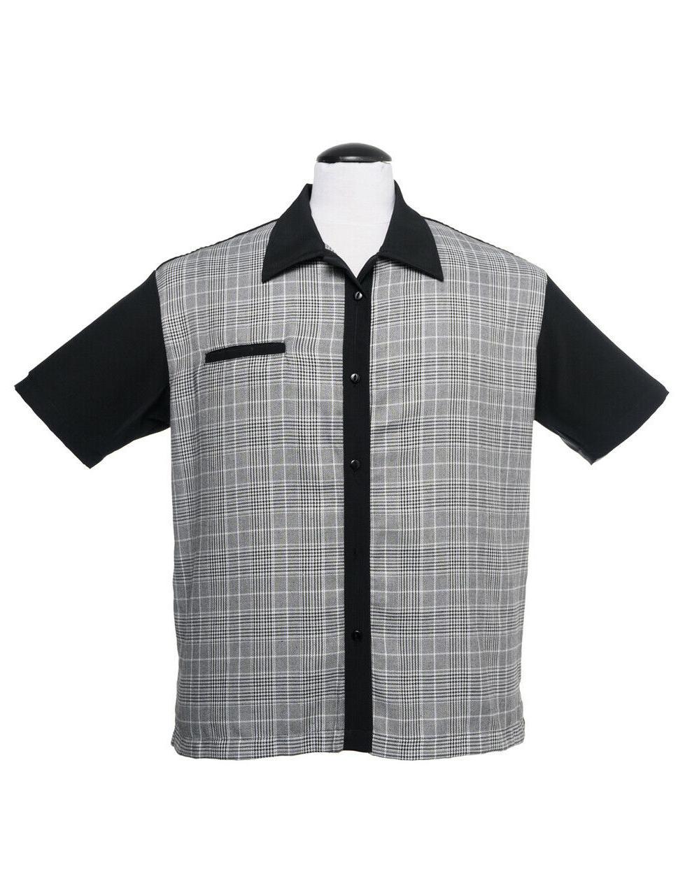 Steady Clothing Bad News Felix Retro Bowling Black Button Do