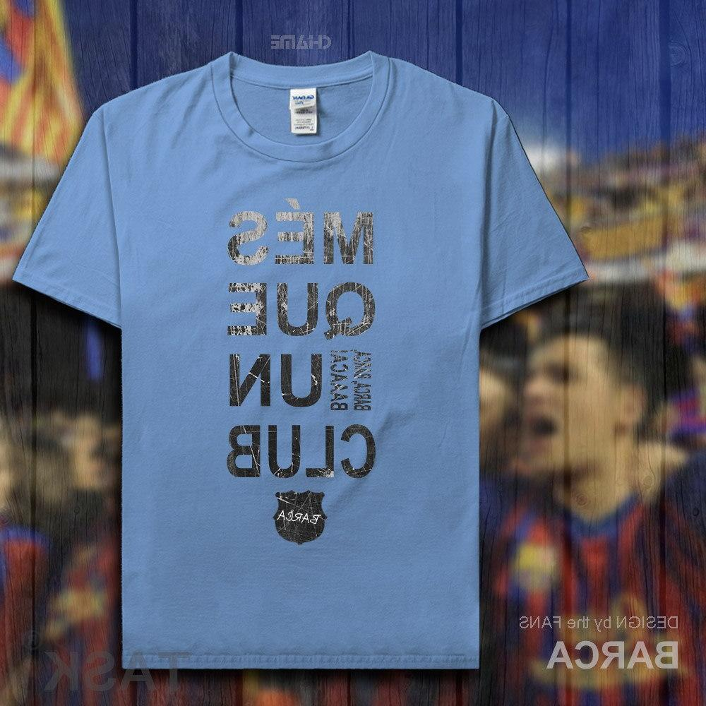 Barcelona <font><b>footballer</b></font> 100% cotton The fans short t-shirts clothes <font><b>clothing</b></font>