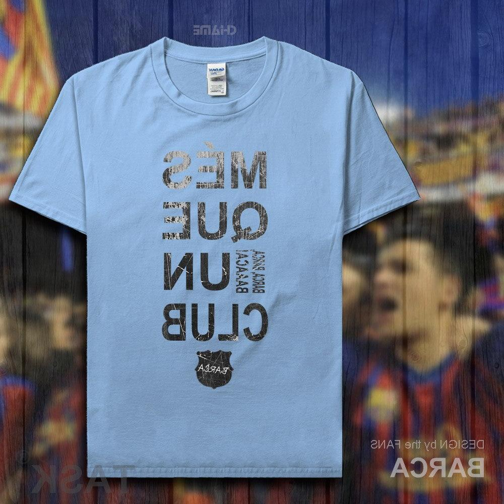 Barcelona <font><b>footballer</b></font> tshirt 100% fans t-shirts clothes casual <font><b>clothing</b></font> new
