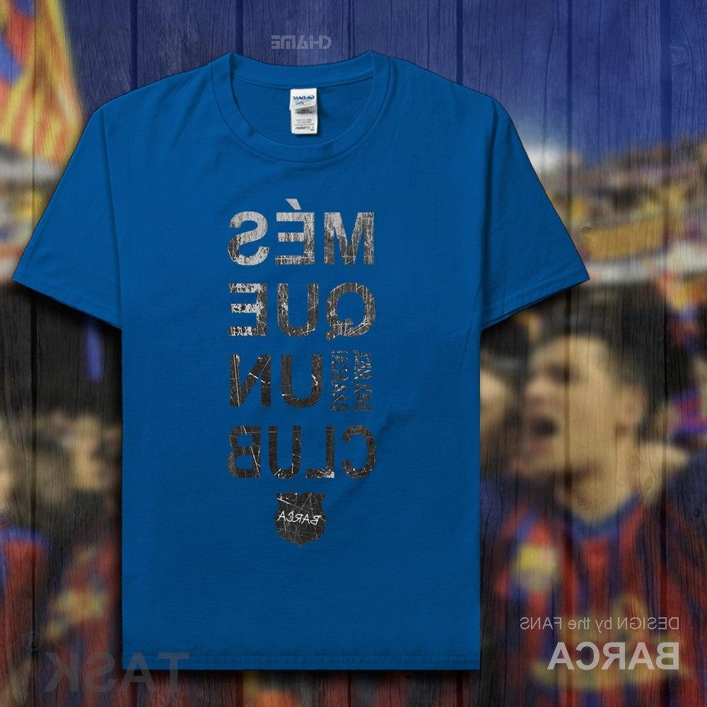 Barcelona 100% cotton The fans short streetwear clothes casual <font><b>clothing</b></font> new