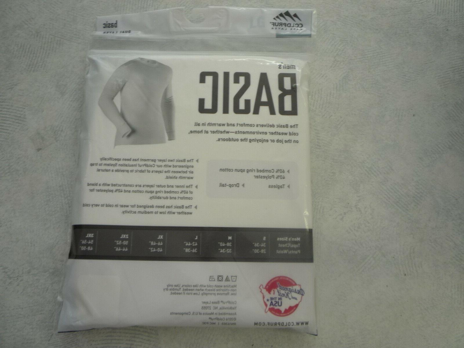 Coldpruf Basic Base Long Underwear, Sizes