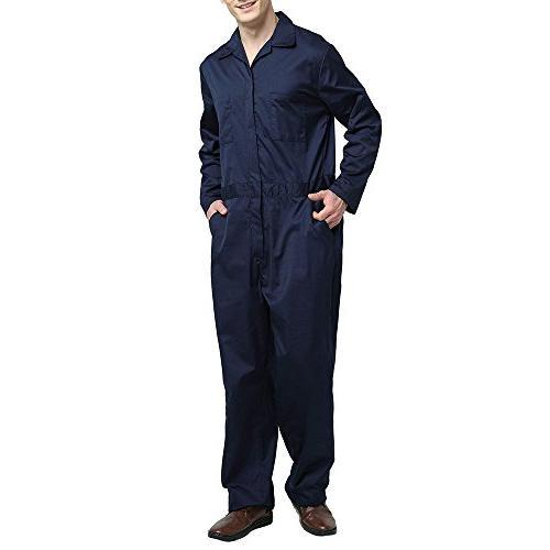 TOPTIE Men's Basic Sleeve Coverall, Gray, M