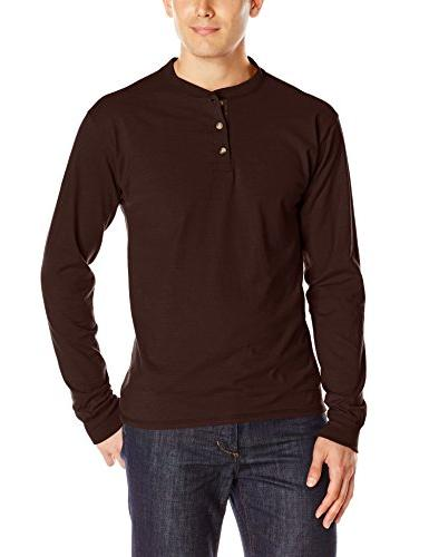 beefy t long sleeve henley