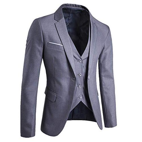 Big Promotion! 3-Piece Jacket Coat Autumn Wedding Party & Fashion Casual Outwear
