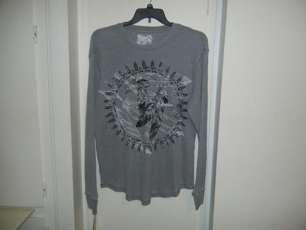 brand clothing mens indian eagle thermal grey