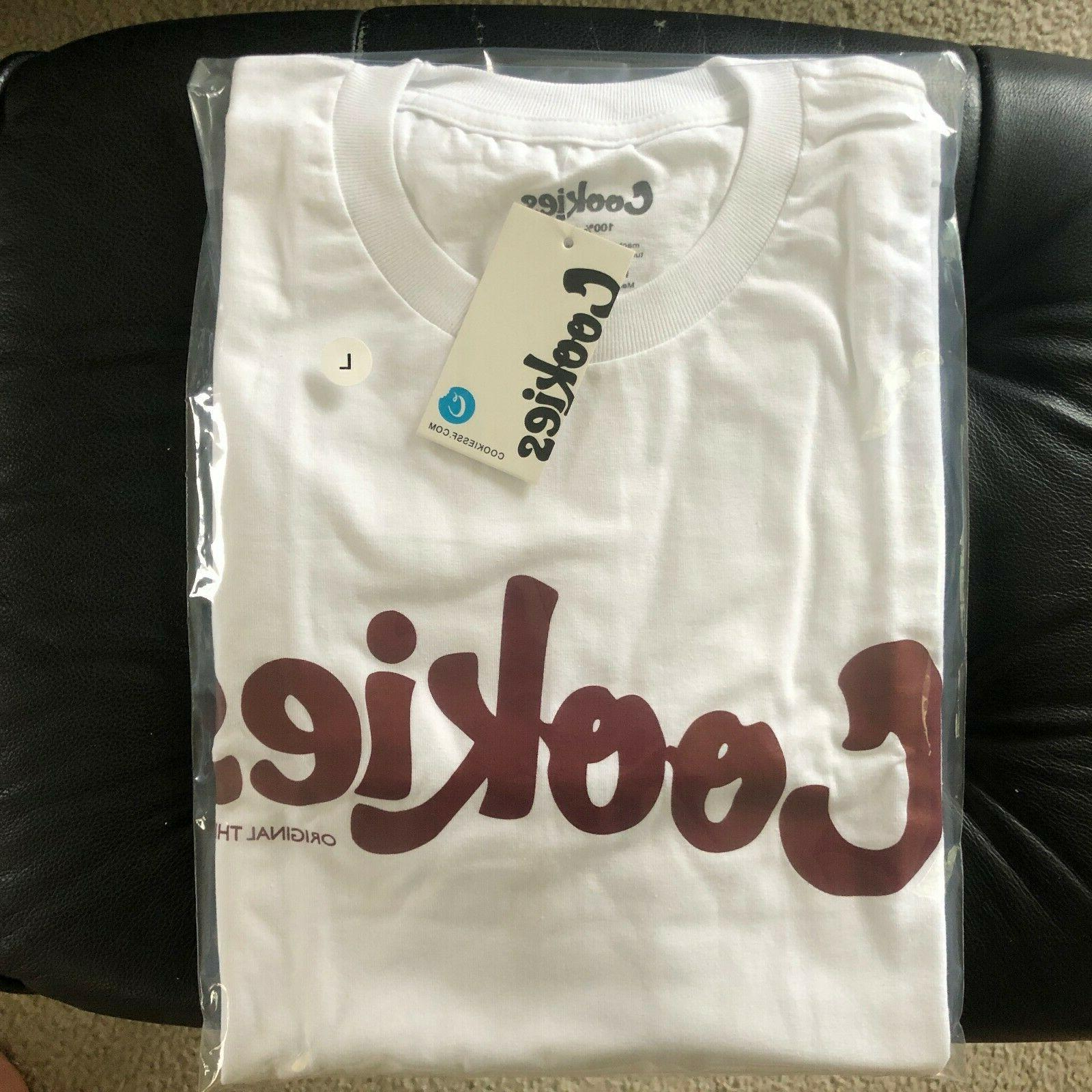 Brand New Cookies Clothing Mint White/Burgundy Tee