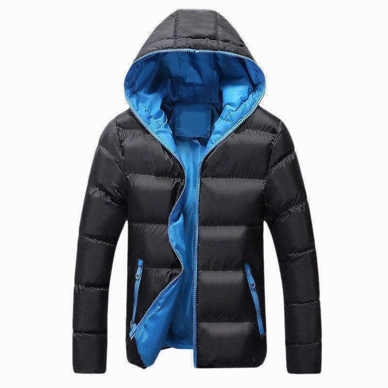 BOLUBAO Winter Parkas Coat <font><b>Men's</b></font> Casual Simple Color Parka