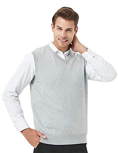 business solid plain sweater vest