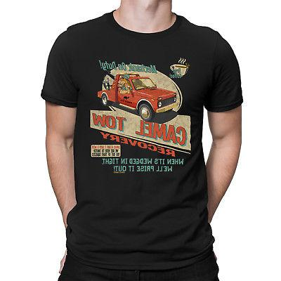 camel tow recovery mens funny novelty t