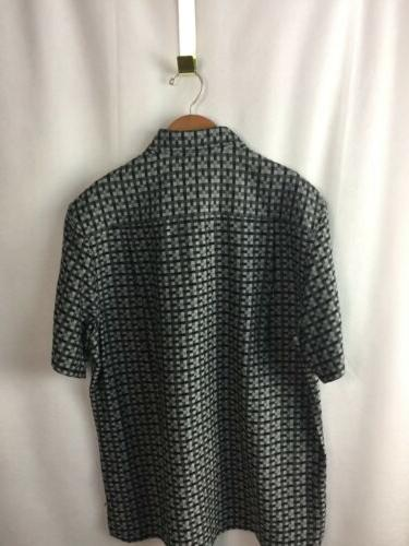 Tommy Camp Shirt Size Small Moroccan Jet Black A60